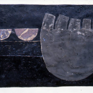 'Askerswell Hoard' 1982 Gouache on paper 58.4 x 76.2 cm by Brian Rice