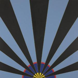 'Blue Black Sunrise' 1967 Acrylic on canvas 120.8 x 120.8 by Brian Rice