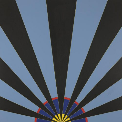 'Blue Black Sunrise' 1967 Acrylic on canvas 924 x 941 cm by Brian Rice