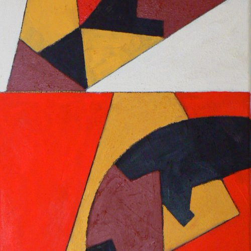 'Boloto' 2014 Oil on canvas 46 x 30.5cm by Brian Rice