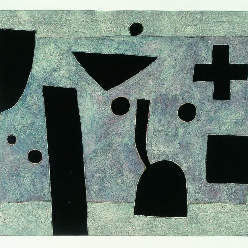 'Crowbarrow' 1999 Gouache & Mixed Media on paper 55.8 x 76.2 cm by Brian Rice