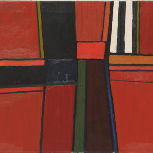 'Landscape Form' 1959 Oil on Canvas 36 x 46cm, by Brian Rice