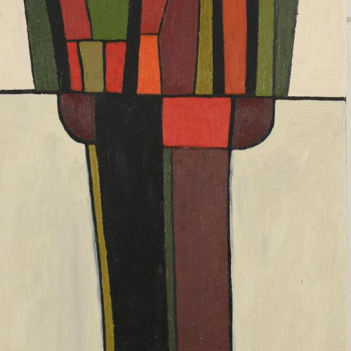 'Pollard' 1959 Oil on Canvas 51 x 40.5cm by Brian Rice