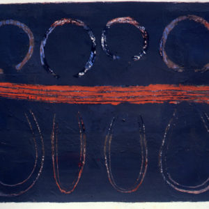 'Red Track' 1981Gouache on paper 58.4 x 76.2cm by Brian Rice