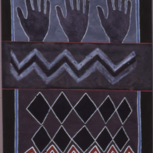 Three Hands 1990 Gouache on paper 68x57cm by Brian Rice