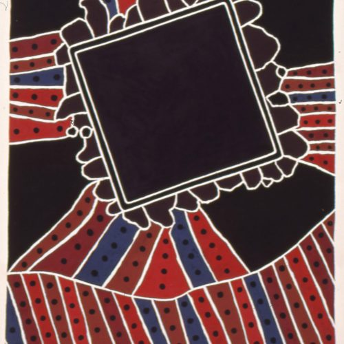 'Vallis Alba' 1994 Gouache on paper 76.2 x 58.4cm by Brian Rice